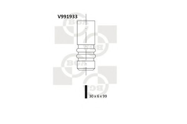 Клапан двигателя впускной BGA V991933