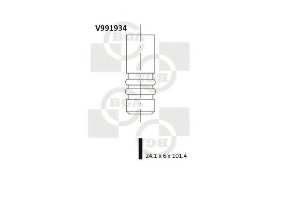 Клапан двигателя выпускной BGA V991934