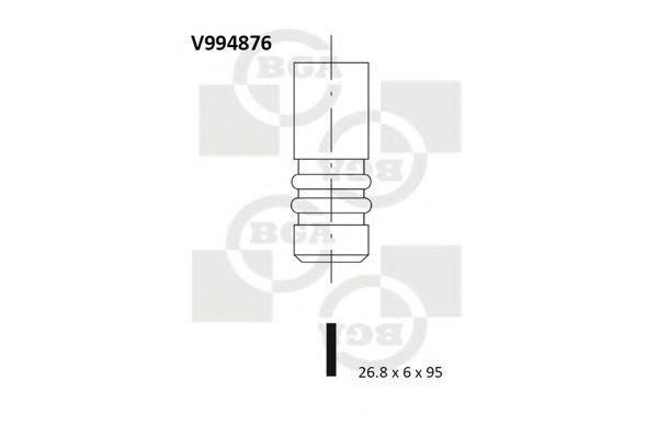 Клапан двигателя BGA V994876