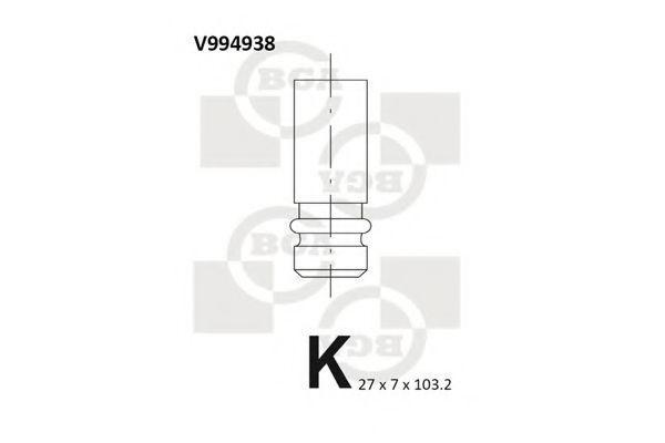 Клапан двигателя выпускной BGA V994938