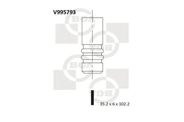 Клапан двигателя впускной BGA V995793