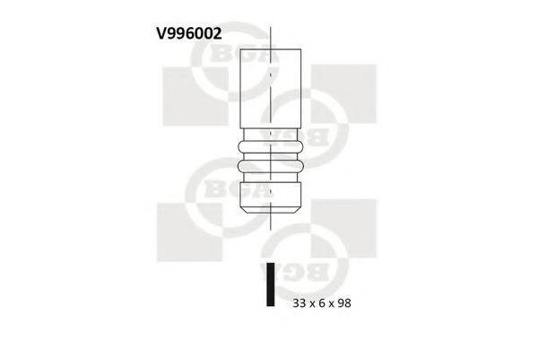 Клапан двигателя впускной BGA V996002