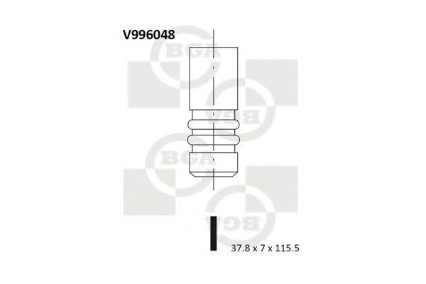 Клапан двигателя выпускной BGA V996048