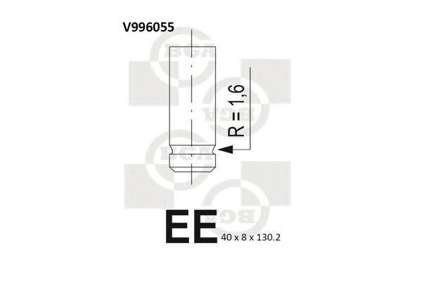 Клапан двигателя BGA V996055