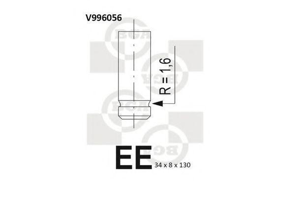 Клапан двигателя выпускной BGA V996056