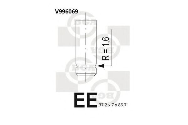 Клапан двигателя BGA V996069
