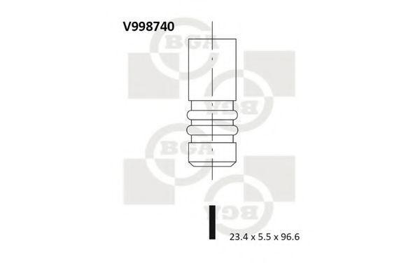 Клапан двигателя выпускной BGA V998740