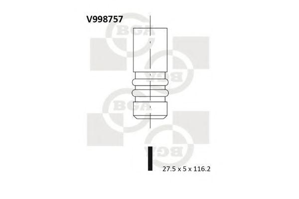 Клапан двигателя BGA V998757