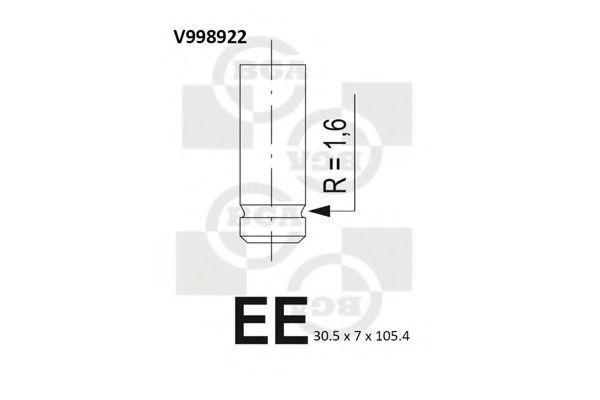 Клапан двигателя впускной BGA V998922