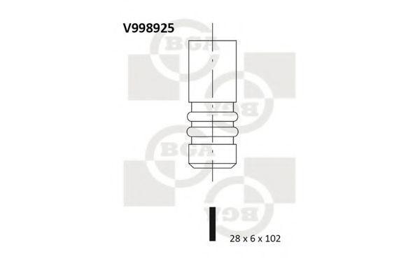 Клапан двигателя выпускной BGA V998925