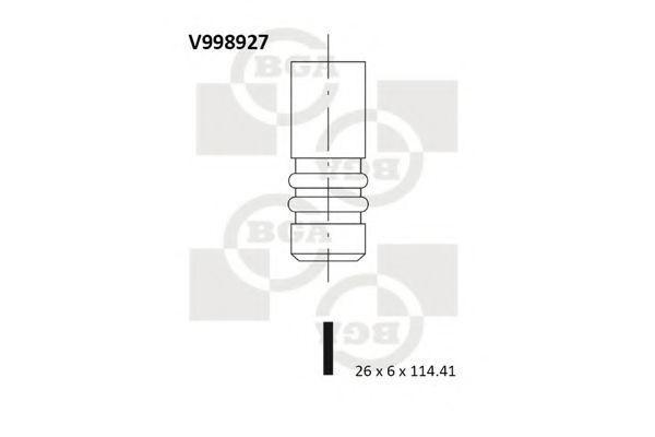 Клапан двигателя выпускной BGA V998927
