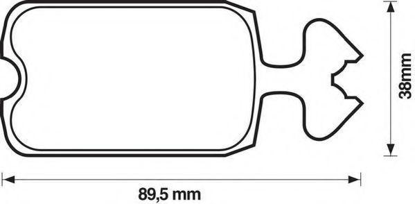 Комплект тормозных колодок, дисковый тормоз JURID 571210D
