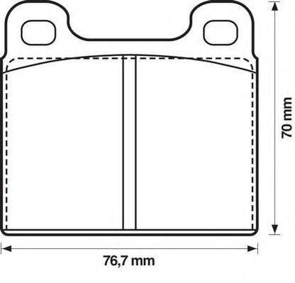 Комплект тормозных колодок, дисковый тормоз JURID 571215D