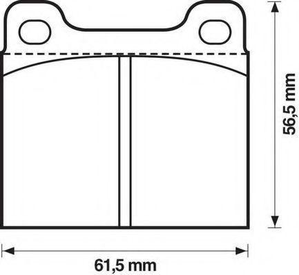 Комплект тормозных колодок, дисковый тормоз JURID 571279D