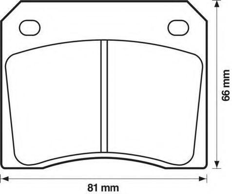 Комплект тормозных колодок, дисковый тормоз JURID 571532D