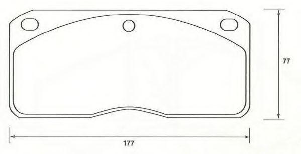 Комплект тормозных колодок, дисковый тормоз JURID 2930209560