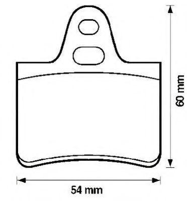 Комплект тормозных колодок, дисковый тормоз JURID 571220J
