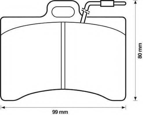 Комплект тормозных колодок, дисковый тормоз JURID 571225J