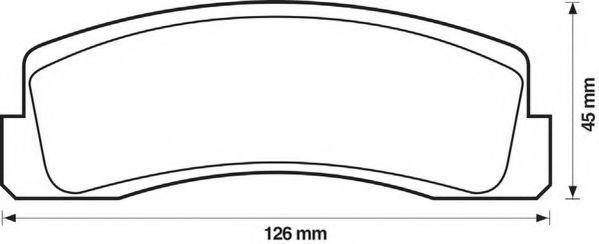 Колодки тормозные JURID 571265J
