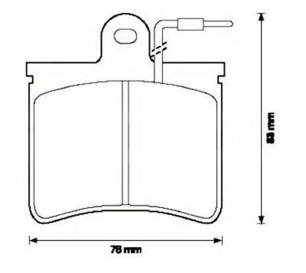 Комплект тормозных колодок, дисковый тормоз JURID 571296J