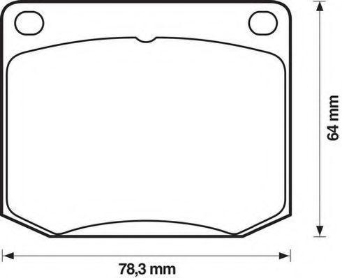 Комплект тормозных колодок, дисковый тормоз JURID 571358J