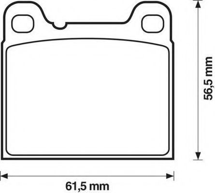 Комплект тормозных колодок, дисковый тормоз JURID 571417J