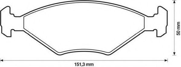 Комплект тормозных колодок, дисковый тормоз JURID 571448J