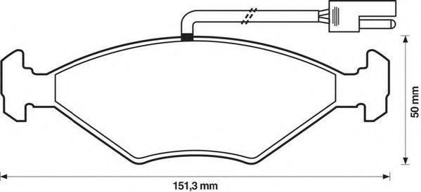 Комплект тормозных колодок, дисковый тормоз JURID 571449J