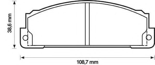 Комплект тормозных колодок, дисковый тормоз JURID 571463J