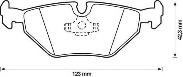 Комплект тормозных колодок, дисковый тормоз JURID 571532J