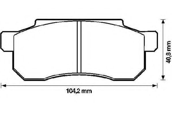 Комплект тормозных колодок, дисковый тормоз JURID 572168J