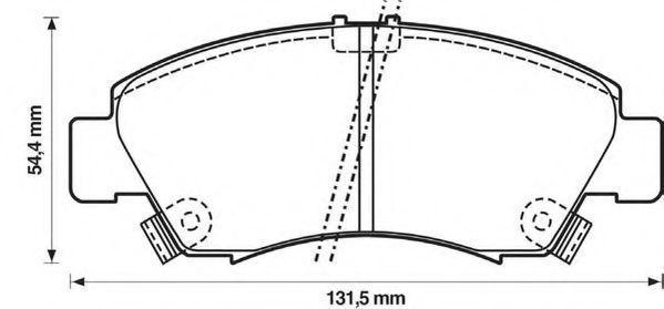 Колодки тормозные JURID 572324J