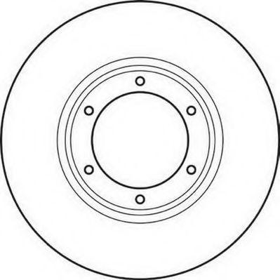 Тормозной диск JURID 561043J