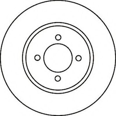 Тормозной диск JURID 561056J
