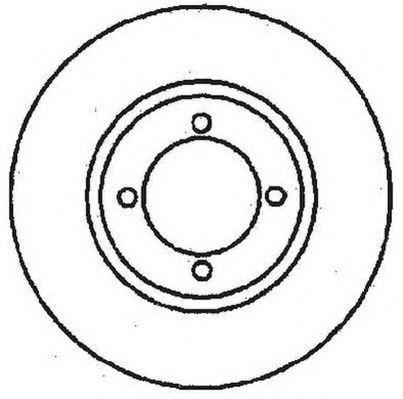 Тормозной диск JURID 561097J