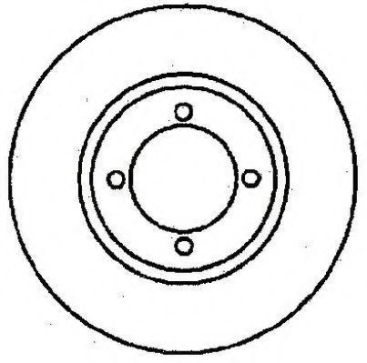 Тормозной диск JURID 561124J