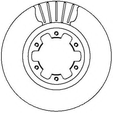 Тормозной диск JURID 562279J