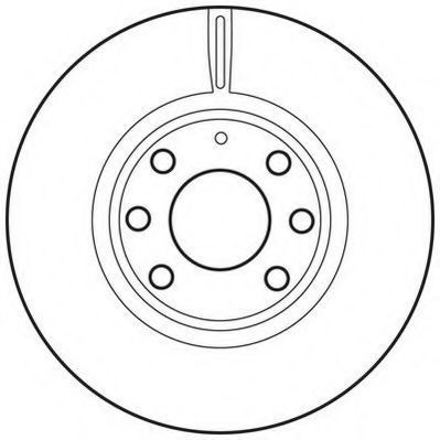 Тормозной диск JURID 562681JC