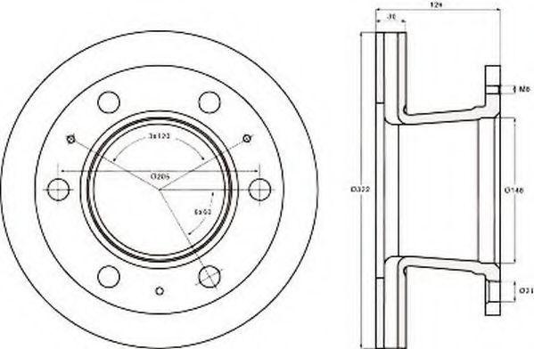 Тормозной диск JURID 567121J