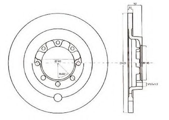 Тормозной диск JURID 567144J