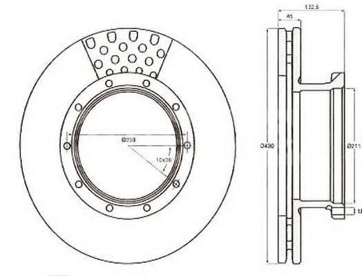 Тормозной диск JURID 567751J