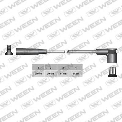 Комплект проводов зажигания WEEN 1104233