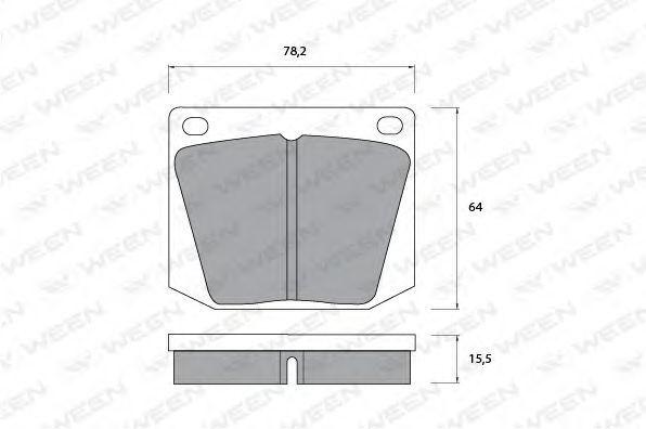 Комплект тормозных колодок, дисковый тормоз WEEN 1511081