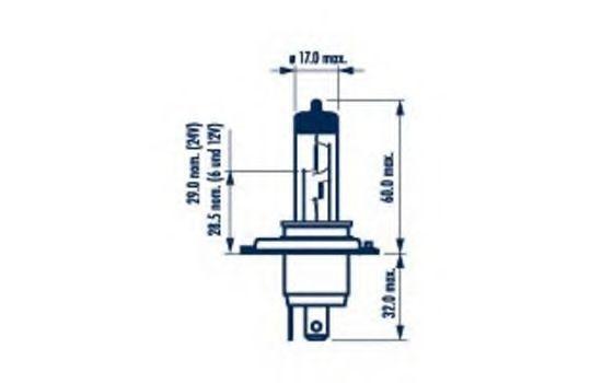 Автолампа H4 NARVA 48881