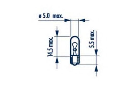 Автолампа W1.2W NARVA 17037