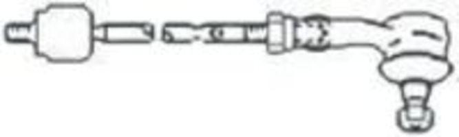 Поперечная рулевая тяга FRAP T398