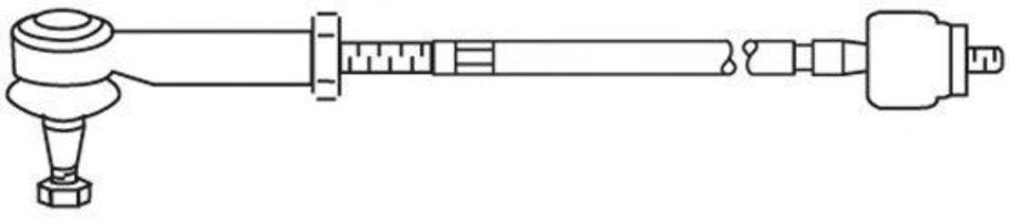 Поперечная рулевая тяга FRAP T442
