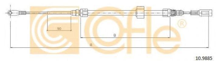 Купить Трос стояночного тормоза COFLE 109885