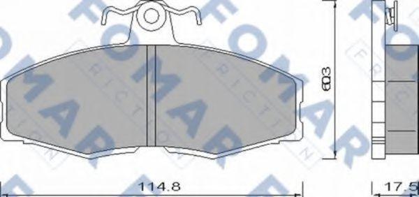 Колодки тормозные передние FOMAR ROULUNDS FO420481
