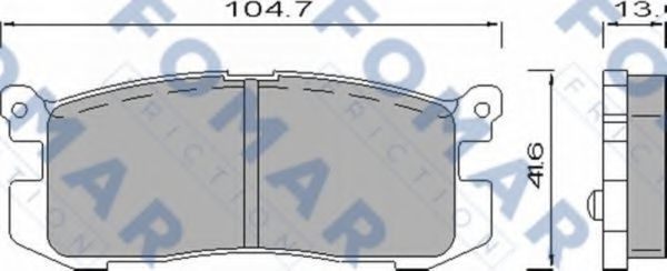 Колодки тормозные FOMAR ROULUNDS FO420581
